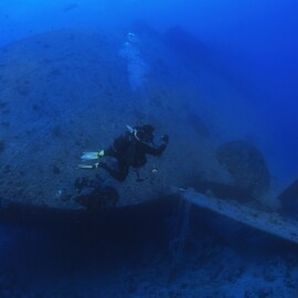 the famous shipwreck Thistlegorm